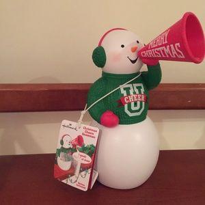 Hallmark Talking Christmas  Cheerleader SnowmanNWT